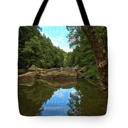 Reflections In Slippery Rock Creek Tote Bag