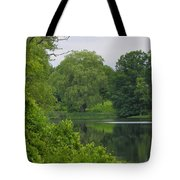 Reflections In Spring Green Tote Bag