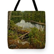 Reflections In Starvation Lake Tote Bag