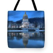 Reflections In The Kanawha River Tote Bag