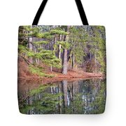 Reflections In The Pines Tote Bag