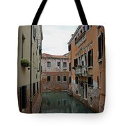 Reflections In Venetian Canal Tote Bag