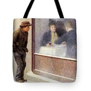Reflections Of A Hungry Man Or Social Contrasts Tote Bag by Emilio Longoni