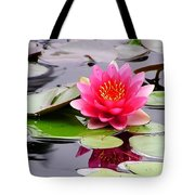 Reflections Of A Pink Waterlily  Tote Bag
