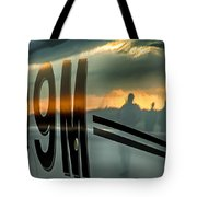 Reflections Of A Sunset Flight Tote Bag