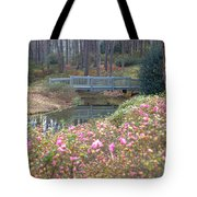 Reflections Of A Walking Bridge Tote Bag