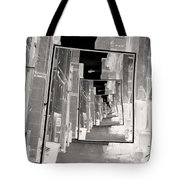 Reflections Of An Infrared Alley Tote Bag