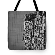Reflections Of Architecture In Balck And White Tote Bag