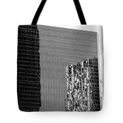Reflections Of Architecture In Black And White Tote Bag