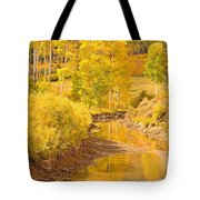 Reflections Of Gold Tote Bag