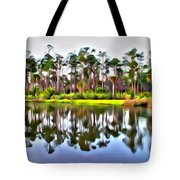 Reflections Of Pines Tote Bag