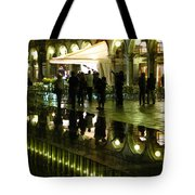 Reflections Of Saint Mark's Square-night Tote Bag