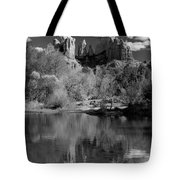 Reflections Of Sedona Black And White Tote Bag