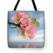 Reflections Of Spring At Apple Blossom Time Tote Bag