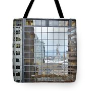 Reflections Of The Capitol Building In Denver Colorado Tote Bag