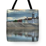 Reflections Of The Courthouse Tote Bag