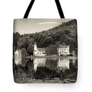 Reflections Of The Day Black And White Tote Bag