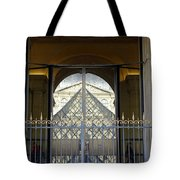 Reflections Of The Musee Du Louvre In Paris France Tote Bag