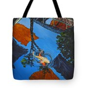 Reflections Of The Wharf Tote Bag