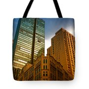 Reflections On Buildings Nyc Tote Bag