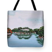 Reflections On Lal Bagh Lake Tote Bag