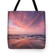 Reflections On North Jetty Dusk Tote Bag