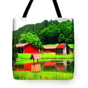 Reflections On The Pond Tote Bag