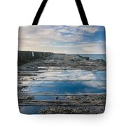 Reflections On The South Spit Tote Bag