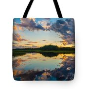 Reflections On The Water Tote Bag