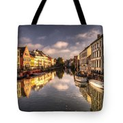 Reflections Over Ghent Tote Bag