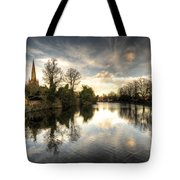 Reflections Over Lichfield Tote Bag