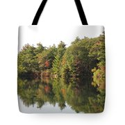 Reflections Two At Pearce Lake Breakheart Tote Bag