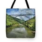 Reflections Under The Bridge Tote Bag