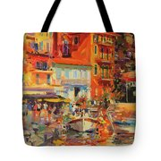 Reflections - Villefranche Tote Bag by Peter Graham