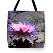 Dark Water Reflections Tote Bag