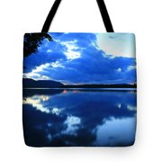Reflective Blues On Lake Umbagog  Tote Bag