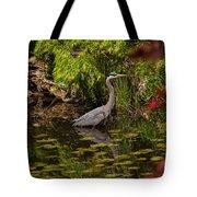 Reflective Great Blue Heron Tote Bag