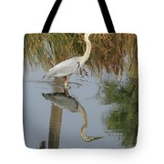 Reflective On Blue Tote Bag