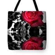 Reflective Red Rose Tote Bag