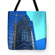 Reflective Towers Tote Bag