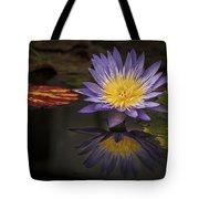 Reflective Water Lily Still Life Tote Bag