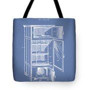 Refrigerator Patent From 1901 - Light Blue Tote Bag