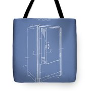 Refrigerator Patent From 1942 - Light Blue Tote Bag