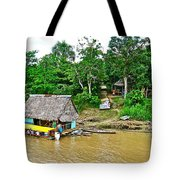 Refueling Along The Amazon River-peru  Tote Bag