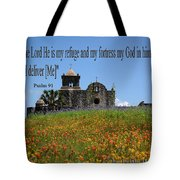 Refuge And Fortress Tote Bag
