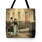 Regency Couple Tote Bag