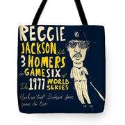 Reggie Jackson New York Yankees Tote Bag