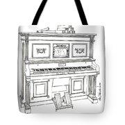 Regina Player Piano Tote Bag