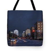 Regina Street At Night Tote Bag