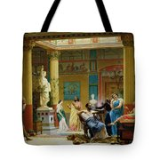 Rehearsal Of The Fluteplayer And The Diomedes Wife In The Atrium Of The Pompeian House Of Prince Tote Bag